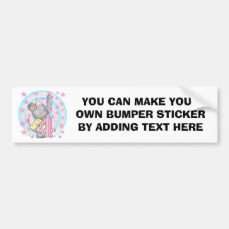 Mouse 4th birthday T-shirts and Gifts Car Bumper Sticker
