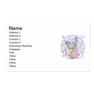 Mouse 4th birthday T-shirts and Gifts Business Card Templates