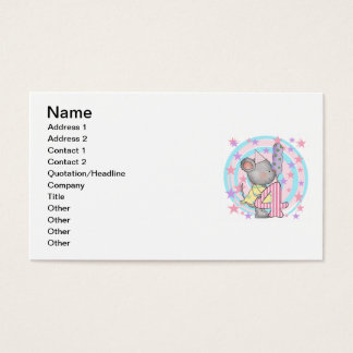 Mouse 4th birthday T-shirts and Gifts Business Card