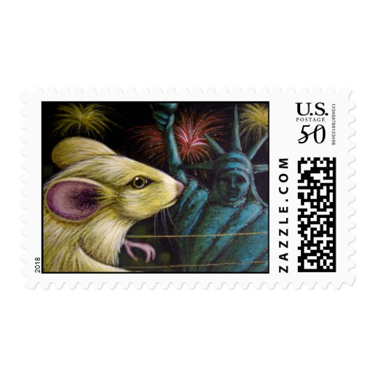 MOUSE 4TH OF JULY Postage
