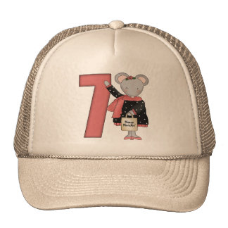 Mouse 7th Birthday Gifts Trucker Hat