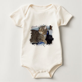 Mouse addicted cat baby bodysuit