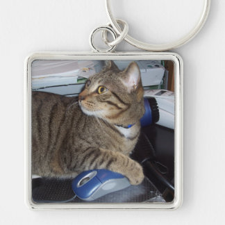 Mouse addicted cat keychain