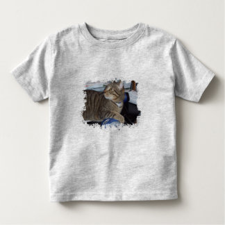 Mouse addicted cat toddler t-shirt