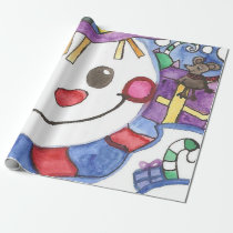 Mouse and a Snowman Friends XMAS Wrapping Paper