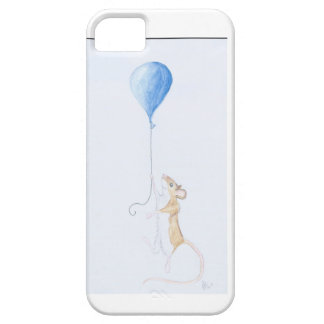 Mouse and Balloon, Watercolour Painting iPhone SE/5/5s Case