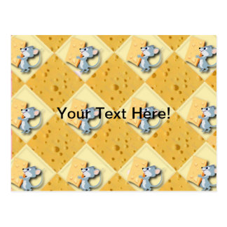 Mouse and Cheese Background Postcard