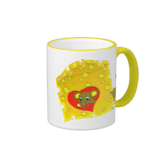 mouse and cheese coffee mugs