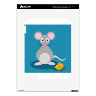 Mouse And Cheese Decals For iPad 3