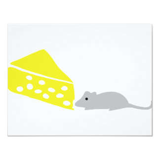 mouse and cheese icon card