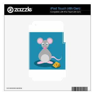 Mouse And Cheese iPod Touch 4G Skins