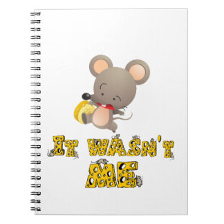 Mouse and cheese .. note book