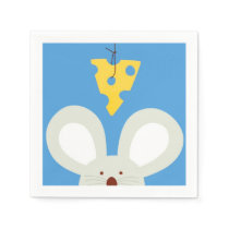 Mouse and Cheese Paper Napkin