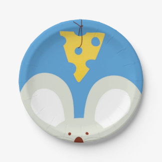 Mouse and Cheese 7 Inch Paper Plate