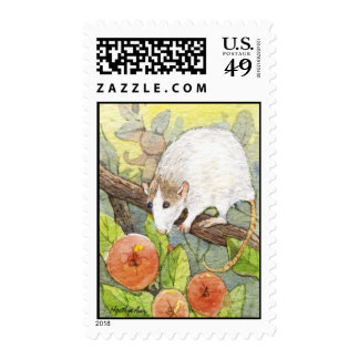 Mouse and Cherries Stamp