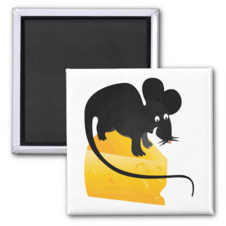 Mouse and Chunk of Cheese Magnet