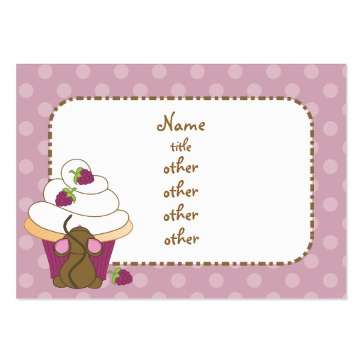 Mouse and Cupcake Large Business Cards (Pack Of 100)