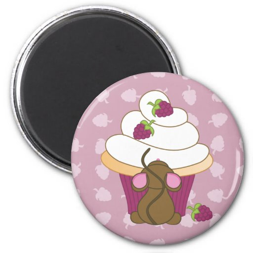Mouse and Cupcake Fridge Magnets