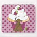 Mouse and Cupcake Mouse Pad