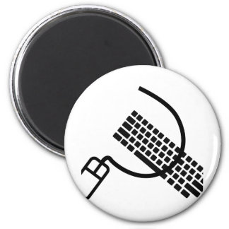 mouse and keyboard geek apparel and accesories magnet