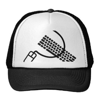 mouse and keyboard geek apparel and accesories trucker hat