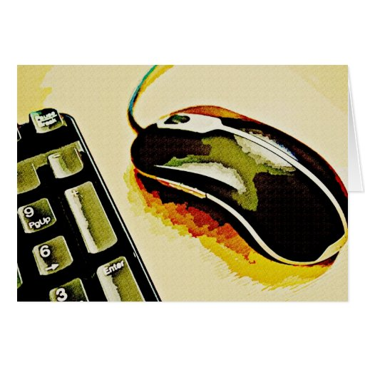 Mouse and Keyboard Greeting Card