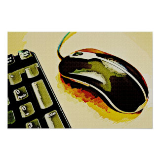 Mouse and Keyboard Poster