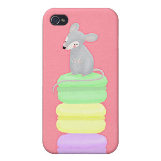 mouse and macarons iphone 4g case covers for iPhone 4