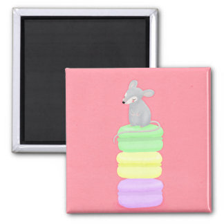 mouse and macarons magnet