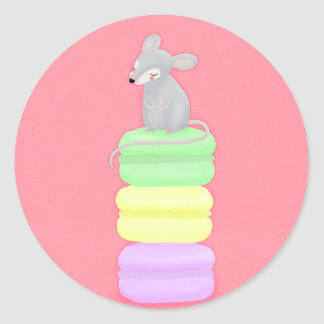 Mouse and macarons sticker