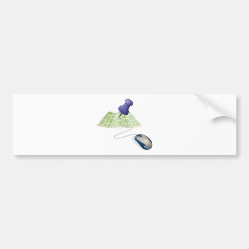 Mouse and map concept bumper stickers