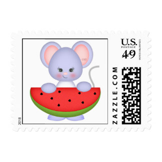 Mouse and Melon Postage