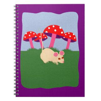 Mouse and Mushroom Cartoon Art Note Books