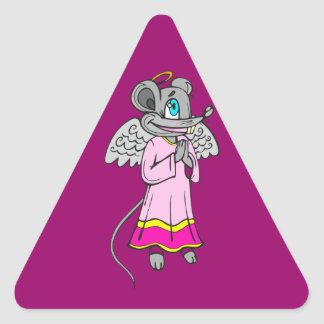 Mouse Angel Triangle Sticker