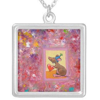Mouse art fun generous heart love sharing party pendants