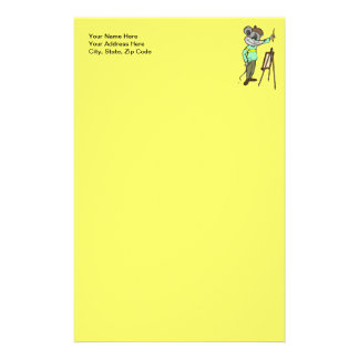 Mouse Artist Stationery