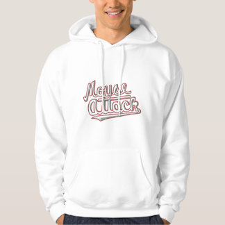 Mouse Attack Baseball Team Hoodie