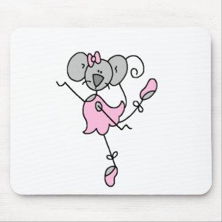 Mouse Ballerina Stick Figure Mousepad
