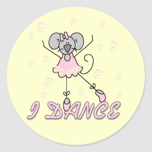 Mouse Ballet Tshirts and Gifts Sticker