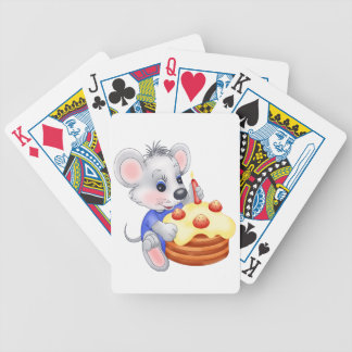mouse birthday cake bicycle playing cards