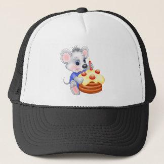 mouse birthday cake trucker hat