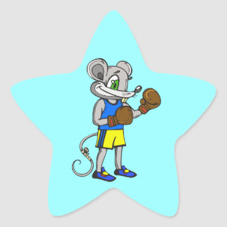 Mouse Boxer Star Sticker