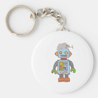 Mouse Building Robot Keychain