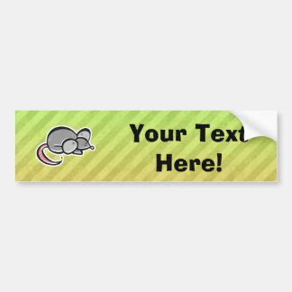 Mouse Car Bumper Sticker