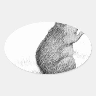 Mouse by Theodor Severin Kittelsen Oval Sticker