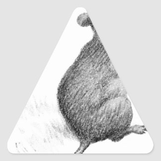 Mouse by Theodor Severin Kittelsen Triangle Sticker