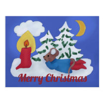 Mouse Christmas Postcard