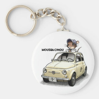 Mouse&Cinqu - Keychain- Basic Round Button Keychain