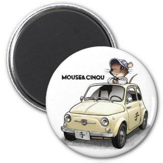 Mouse&Cinqu - Magnet- 2 Inch Round Magnet