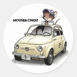 Mouse&Cinqu - Sticker- Classic Round Sticker